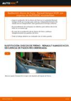 Cambiar Discos de Freno RENAULT KANGOO: manual de taller