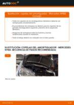 Cómo cambiar: copelas del amortiguador de la parte delantera - Mercedes W168 | Guía de sustitución