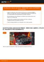 Cómo cambiar: discos de freno de la parte delantera - BMW E46 cabrio | Guía de sustitución
