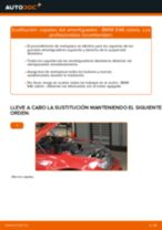 Cómo cambiar: copelas del amortiguador de la parte delantera - BMW E46 cabrio | Guía de sustitución
