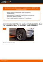 Cómo cambiar: silentblock barra estabilizadora de la parte delantera - BMW E46 touring | Guía de sustitución