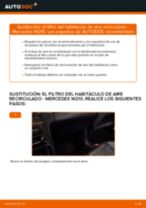 Cómo cambiar: el filtro del habitáculo de aire recirculado - Mercedes W210 | Guía de sustitución