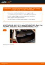 Come cambiare supporto ammortizzatore della parte posteriore su BMW E46 touring - Guida alla sostituzione