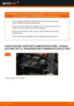 Montaggio Kit riparazione pinza freno HONDA ACCORD VIII (CU) - video gratuito