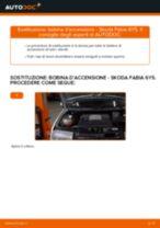 Cambiare Ganasce Freno a Mano SKODA FABIA: manuale tecnico d'officina
