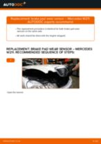 Replacing Brake wear sensor: pdf instruction for MERCEDES-BENZ E-CLASS