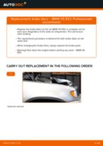 Online manual on changing Drum brake pads yourself on BMW X5 (E53)