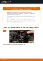 Changing Brake Discs MERCEDES-BENZ VITO: workshop manual