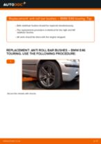 DIY BMW change Sway bar bushes - online manual pdf