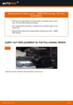 BMW 3 Touring (E46) change Brake Pads rear and front: guide pdf
