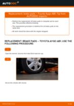How to replace and adjust Brake Drum TOYOTA AYGO: pdf tutorial