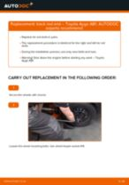 How to replace and adjust Brake caliper TOYOTA AYGO: pdf tutorial