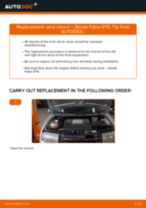 Replacing Coolant temperature sensor SKODA FABIA: free pdf