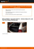 When to change Gas spring boot on SKODA FABIA Combi (6Y5): pdf manual