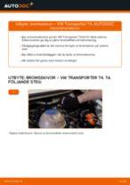 Byta bromsskivor bak på VW Transporter T4 – utbytesguide
