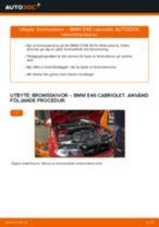 Byta bromsskivor fram på BMW E46 cabriolet – utbytesguide