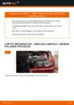 Byta bromsskivor bak på BMW E46 cabriolet – utbytesguide