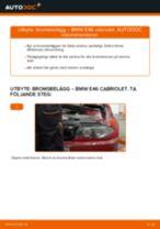 Byta bromsbelägg bak på BMW E46 cabriolet – utbytesguide