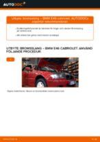 Byta bromsslang fram på BMW E46 cabriolet – utbytesguide