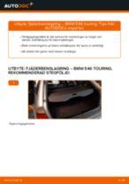 Byta fjäderbenslagring bak på BMW E46 touring – utbytesguide