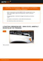 Skifte Bremseskiver BMW X5: verkstedhåndbok