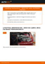 Slik bytter du bremseskiver bak på en BMW E46 cabrio – veiledning
