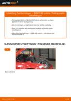 Montering Glødelampe Nummerskiltlys BMW 3 Convertible (E46) - steg-for-steg manualer