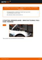Slik bytter du bremseslange fremme på en BMW E46 touring – veiledning