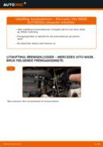 Oppdag den detaljerte veiledningen om hvordan fikse MERCEDES-BENZ Bremsekloss foran og bak problemet