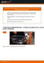 Mekanikerens anbefalinger om bytte av HONDA Honda Accord VIII CU 2.2 i-DTEC (CU3) Bremseklosser