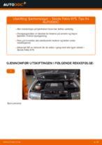 Bytte Tårnlager bak og foran SKODA gjør-det-selv - manualer pdf på nett