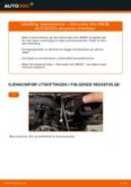 Bytte Bremseskiver bak og foran MERCEDES-BENZ gjør-det-selv - manualer pdf på nett