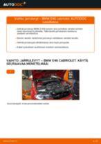 Kuinka vaihtaa jarrulevyt eteen BMW E46 cabriolet-autoon – vaihto-ohje