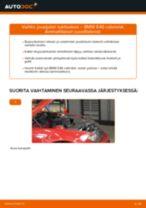 Kuinka vaihtaa jousijalan tukilaakeri eteen BMW E46 cabriolet-autoon – vaihto-ohje