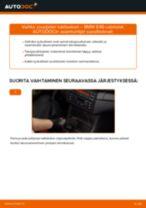 Kuinka vaihtaa jousijalan tukilaakeri taakse BMW E46 cabriolet-autoon – vaihto-ohje