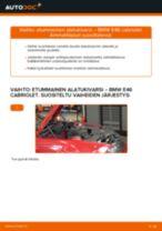 Kuinka vaihtaa etummainen alatukivarsi BMW E46 cabriolet-autoon – vaihto-ohje