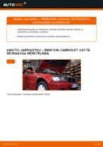 Kuinka vaihtaa jarruletku eteen BMW E46 cabriolet-autoon – vaihto-ohje