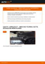 Kuinka vaihtaa jarrulevyt taakse BMW E46 touring-autoon – vaihto-ohje