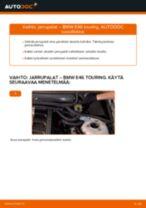 Kuinka vaihtaa jarrupalat taakse BMW E46 touring-autoon – vaihto-ohje