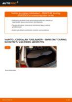 Kuinka vaihtaa jousijalan tukilaakeri taakse BMW E46 touring-autoon – vaihto-ohje