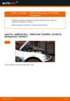 Kuinka vaihtaa jarruletku eteen BMW E46 touring-autoon – vaihto-ohje