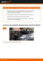 TOYOTA AYGO (WNB1_, KGB1_) Jarrulevy asennus - vaihe vaiheelta korjausohjeet