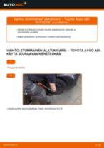 DIY-käsikirja Alatukivarsi vaihtamisesta TOYOTA AYGO
