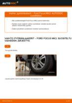 Kuinka vaihtaa pyöränlaakerit taakse Ford Focus MK2-autoon – vaihto-ohje