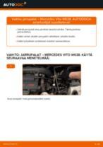 MERCEDES-BENZ VITO Jarrupalat vaihto: ohjekirja