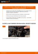 Kuinka vaihtaa jarrulevyt eteen Mercedes Vito W638-autoon – vaihto-ohje