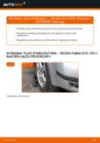 Jak wymienić tuleje stabilizatora przód w Skoda Fabia 6Y5 - poradnik naprawy