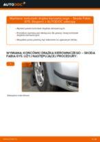 Jak zmienić Końcówka drążka kierownicy SKODA FABIA: darmowy pdf