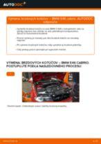 Ako vymeniť predné brzdové kotúče na BMW E46 cabrio – návod na výmenu
