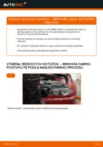 Ako vymeniť zadné brzdové kotúče na BMW E46 cabrio – návod na výmenu